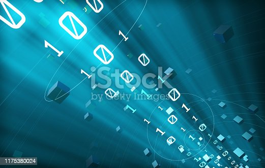 istock Technology data transmission and information technology, network transmission and Internet technology, data flow and information flow 1175380024
