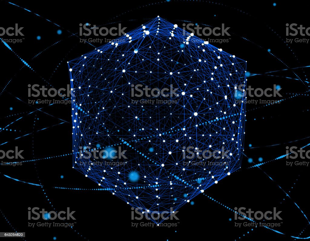 Technology digital information, the future of science and technology stock photo