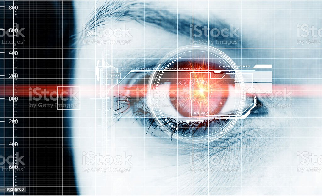 Technology eye stock photo