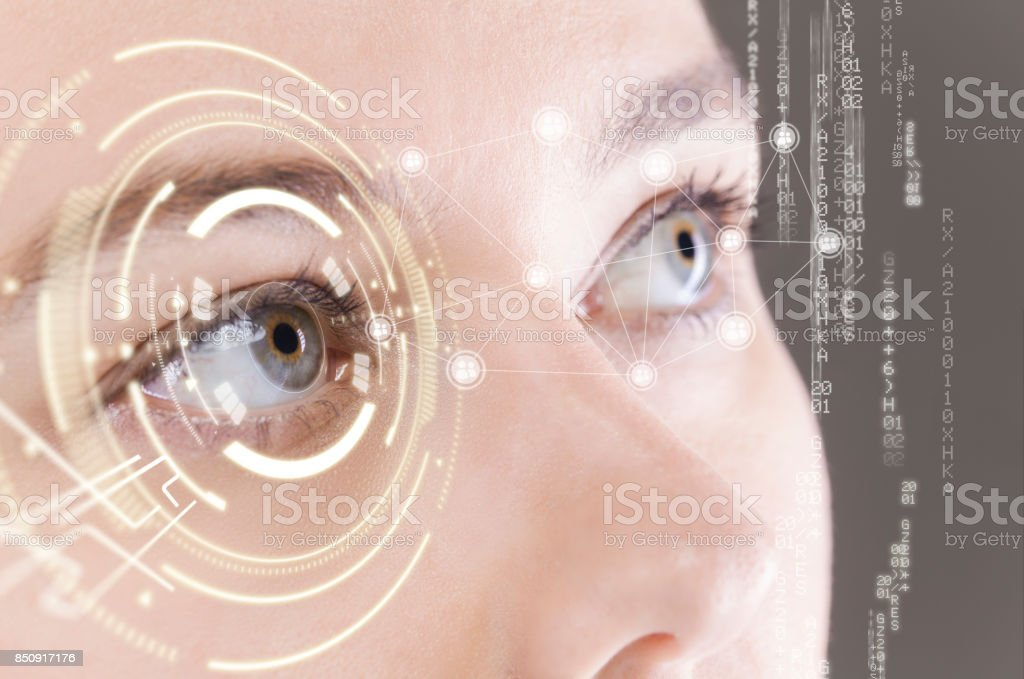 Technology eyes stock photo