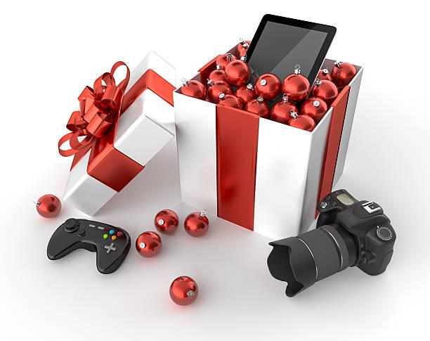 Technology gifts stock photo