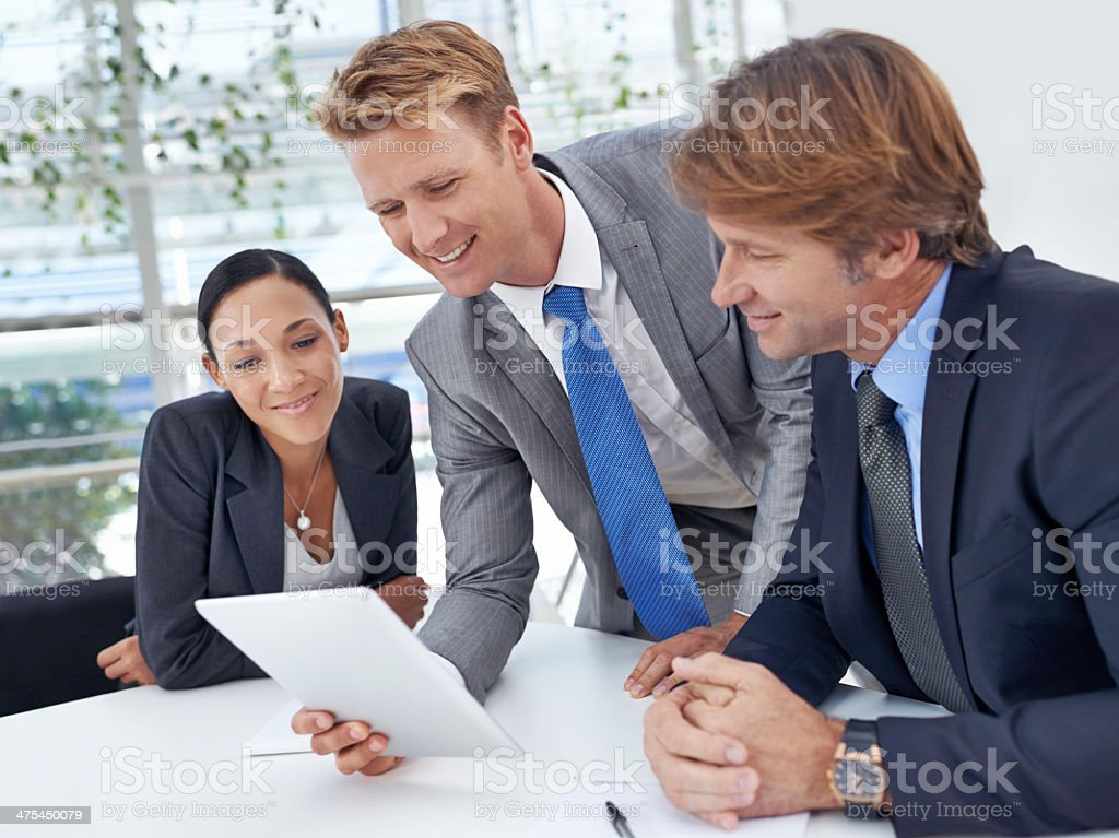 Technology helps them to be more efficient royalty-free stock photo