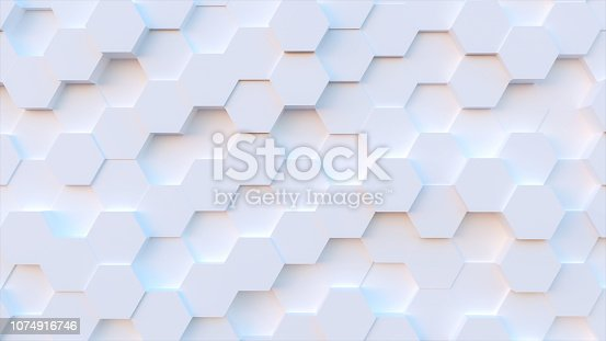 technology hexagon pattern background