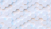technology hexagon pattern background