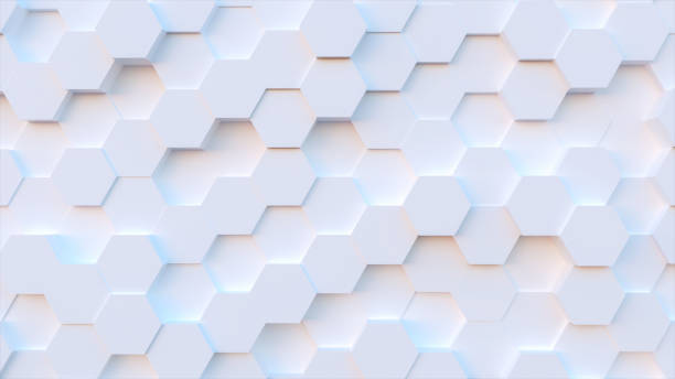 technology hexagon pattern background - geometric shape stock pictures, royalty-free photos & images