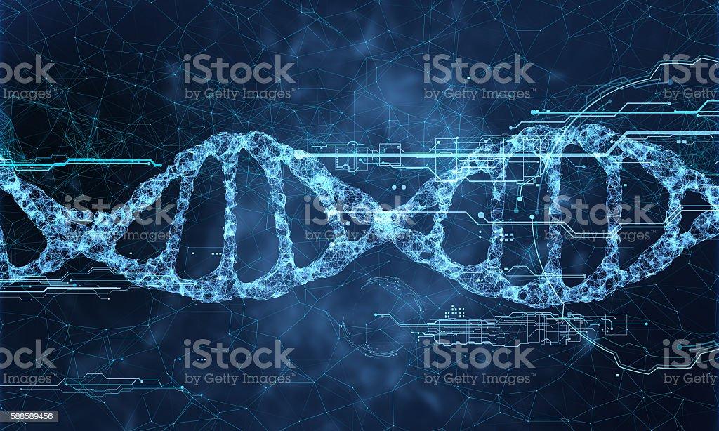 DNA technology hologram - foto de acervo