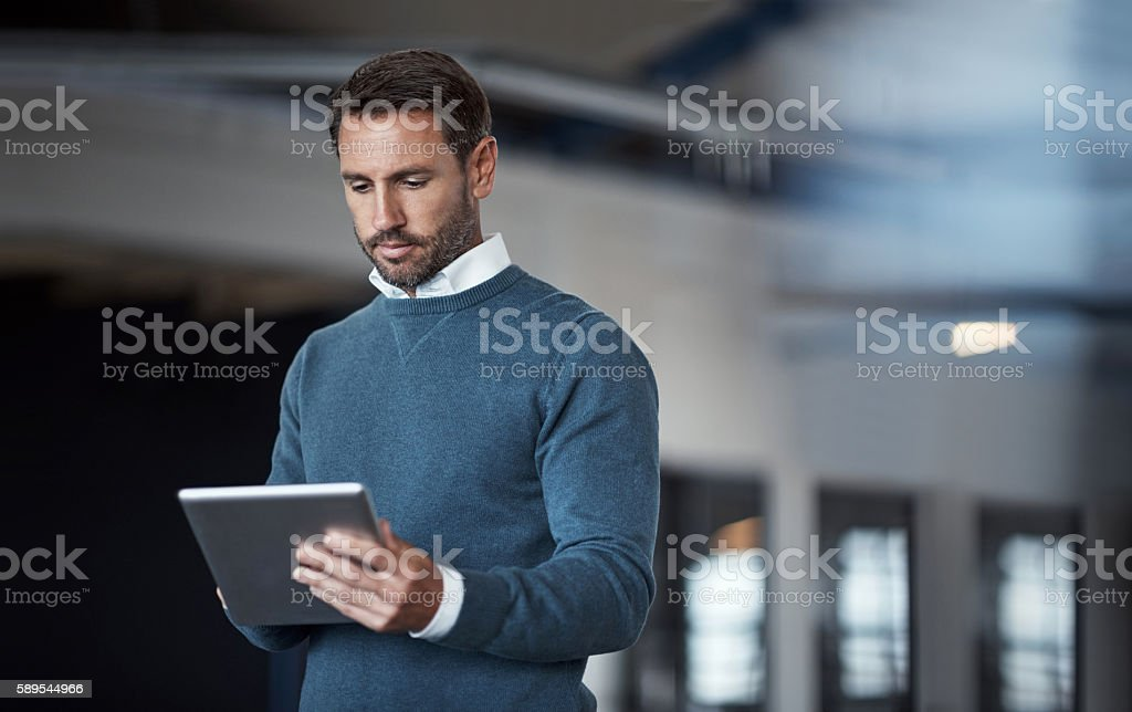 Technology in business stock photo