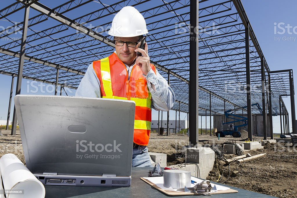 Technology in Construction royalty-free stock photo