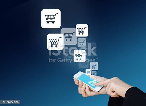 656082444 istock photo Technology information and e-commerce 527027550