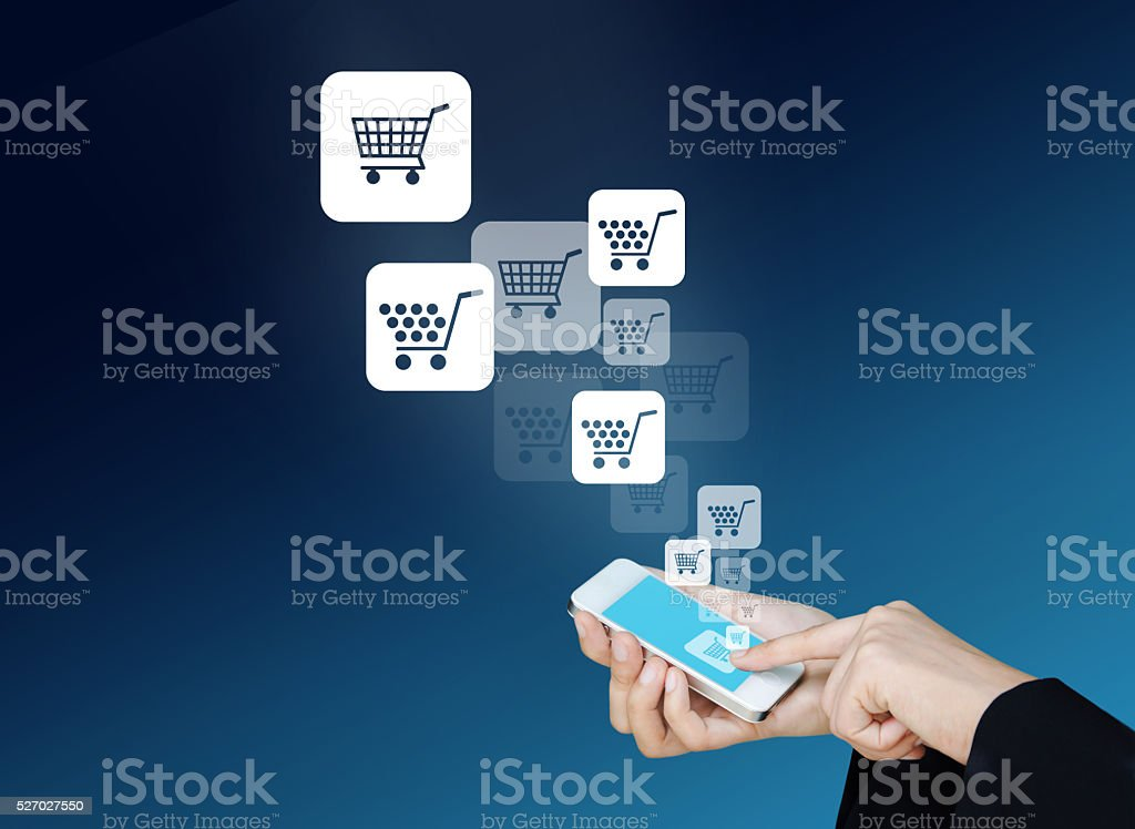 Technology information and e-commerce stock photo