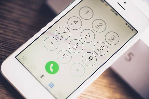 Technologie: IPhone 5 mit Zifferblatt Nummer Bildschirm – Foto