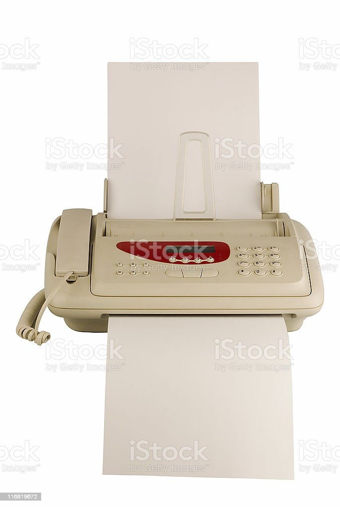 technology isolated fax  Blank Stock Photo
