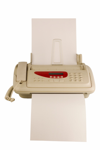 Technology Isolated Fax Stock Photo - Download Image Now