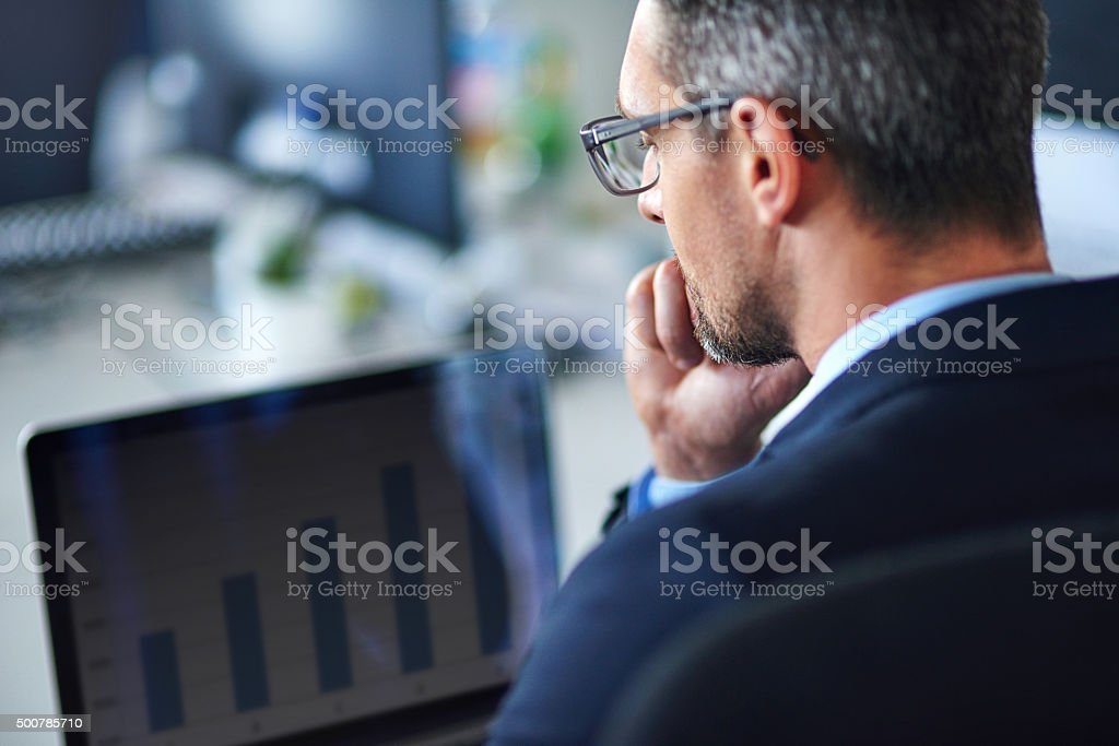 Technology keeps him current and connected stock photo