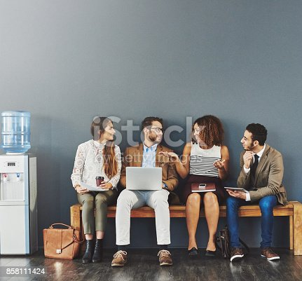 istock Technology keeps their team connected 858111424