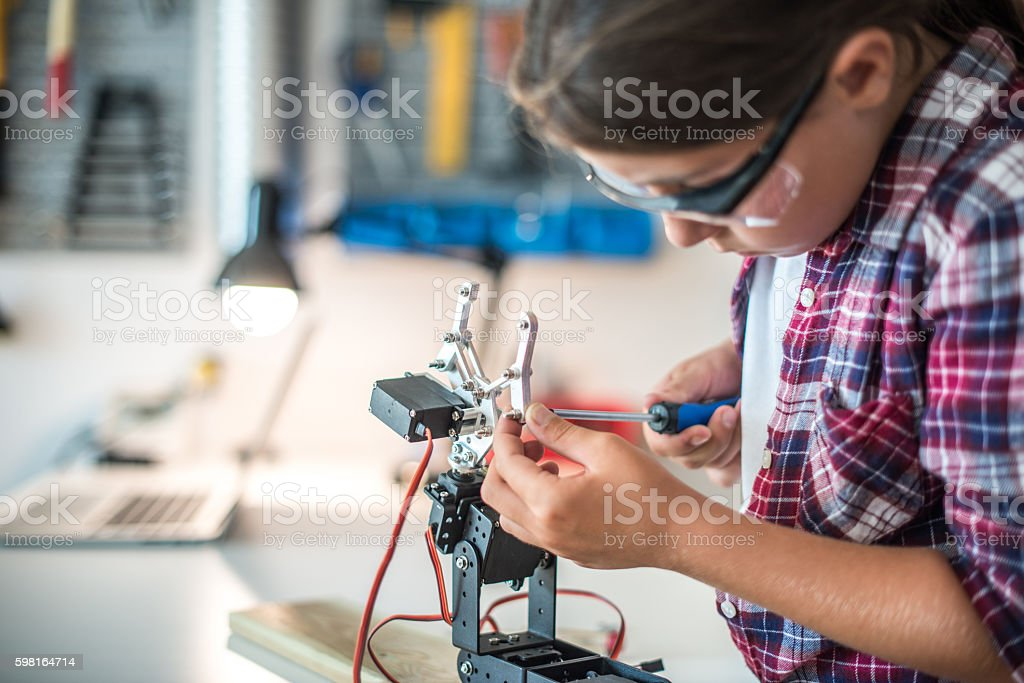 Technology lessons stock photo