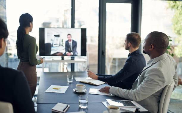 Technology makes collaboration a breeze stock photo
