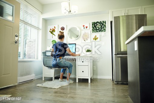 1151920695 istock photo Technology makes working from home a breeze 1129131107