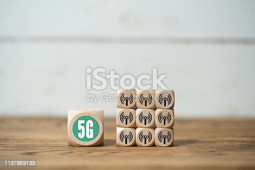 istock Technology name 5G on a cube 1137959133