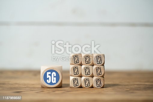 istock Technology name 5G on a cube 1137959332