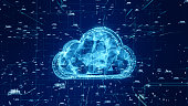 istock Technology Network and Data Connection, Secure Data Network Digital Cloud Computing, Cyber Security Concept 1188134154