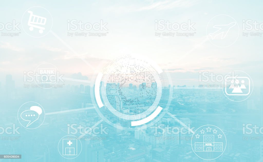 technology network stock photo