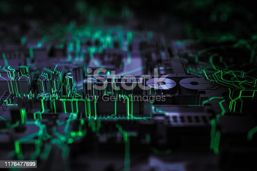 istock Technology networks board background 1176477699