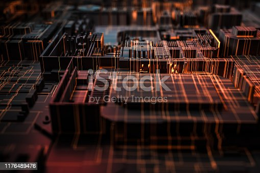 istock Technology networks board background 1176489476