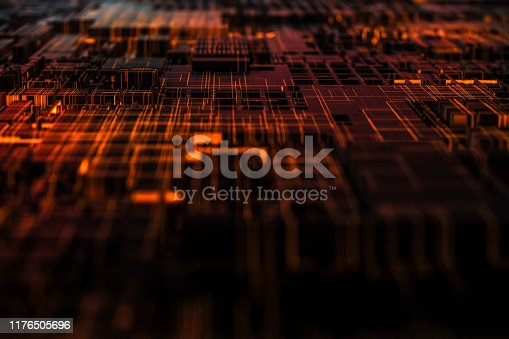 istock Technology networks board background 1176505696