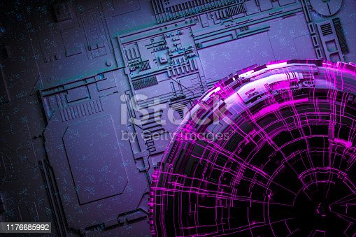 istock Technology networks board background 1176685992