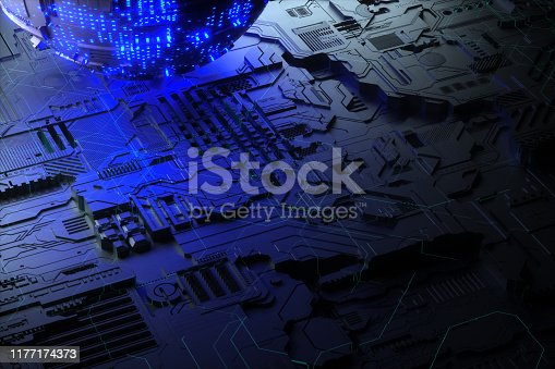istock Technology networks board background 1177174373