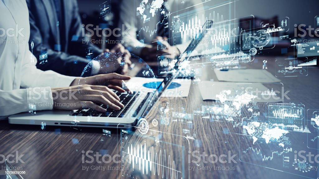 Technology of business concept. stock photo