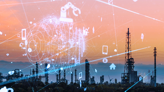 613881746 istock photo Technology of industry concept. IoT (Internet of Things). INDUSTRY4.0 1146418720
