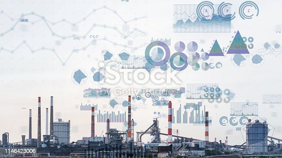 istock Technology of industry concept. WInd power generation. IoT (Internet of Things). INDUSTRY4.0 1146423006
