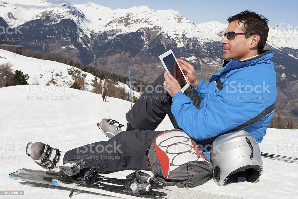 Technology on the Slopes royalty-free stock photo