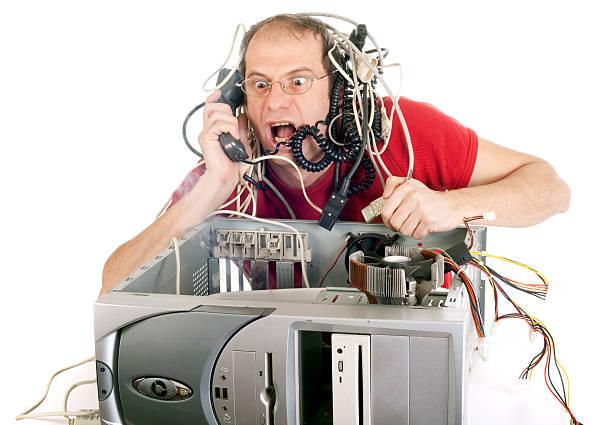 technology panic stock photo
