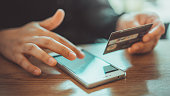 Mobile Pnone Shopping Online With A Debit Card