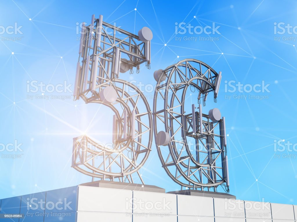 5G technology. stock photo
