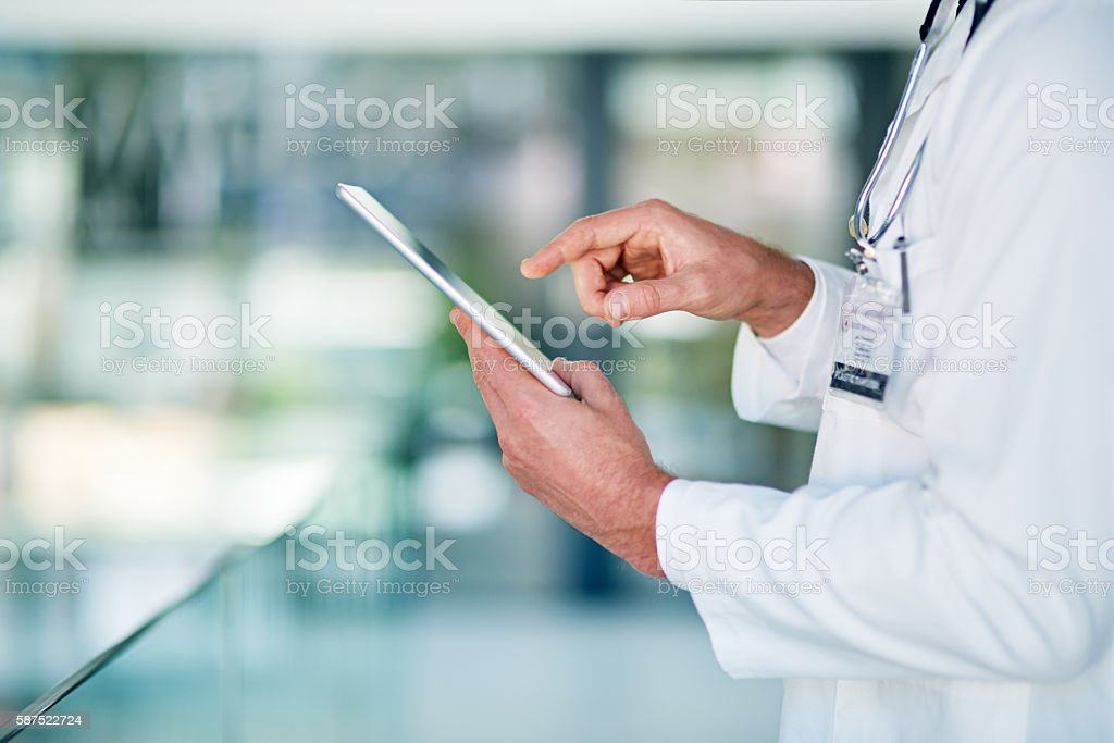 Technology plays an important role in every industry stock photo
