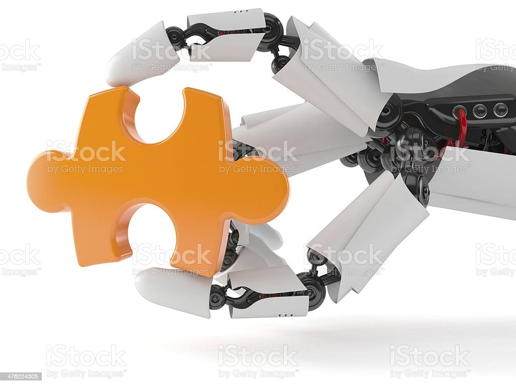 Technology puzzle royalty-free stock photo