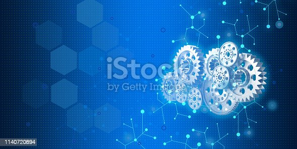 istock technology related objects on blue background 1140720894