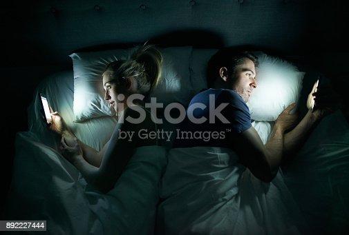 660640502 istock photo Technology sabotaging their sex life? 892227444