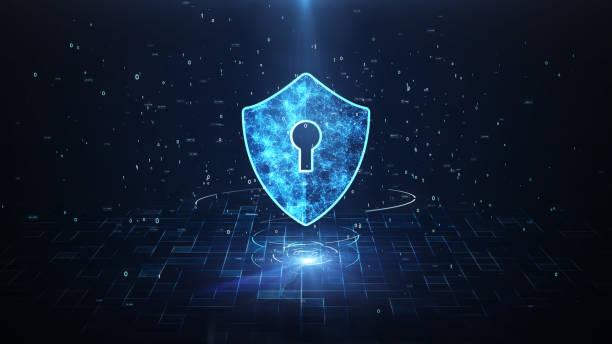 concetto di sicurezza tecnologica. - protezione foto e immagini stock