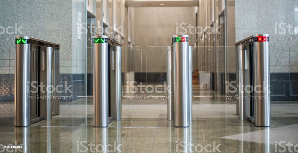 Technology security gateway stock photo