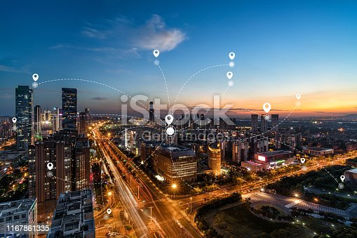 1013558568 istock photo Technology smart city concept background 1167861335