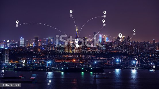 1013558568 istock photo Technology smart city concept background 1167861336
