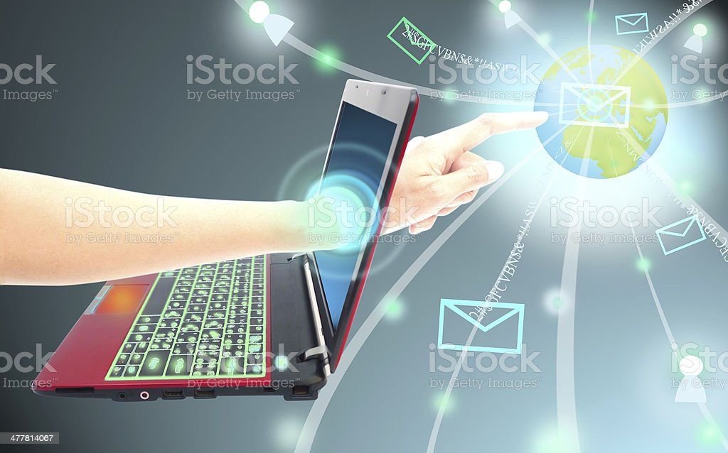 Technology social network structure royalty-free stock photo