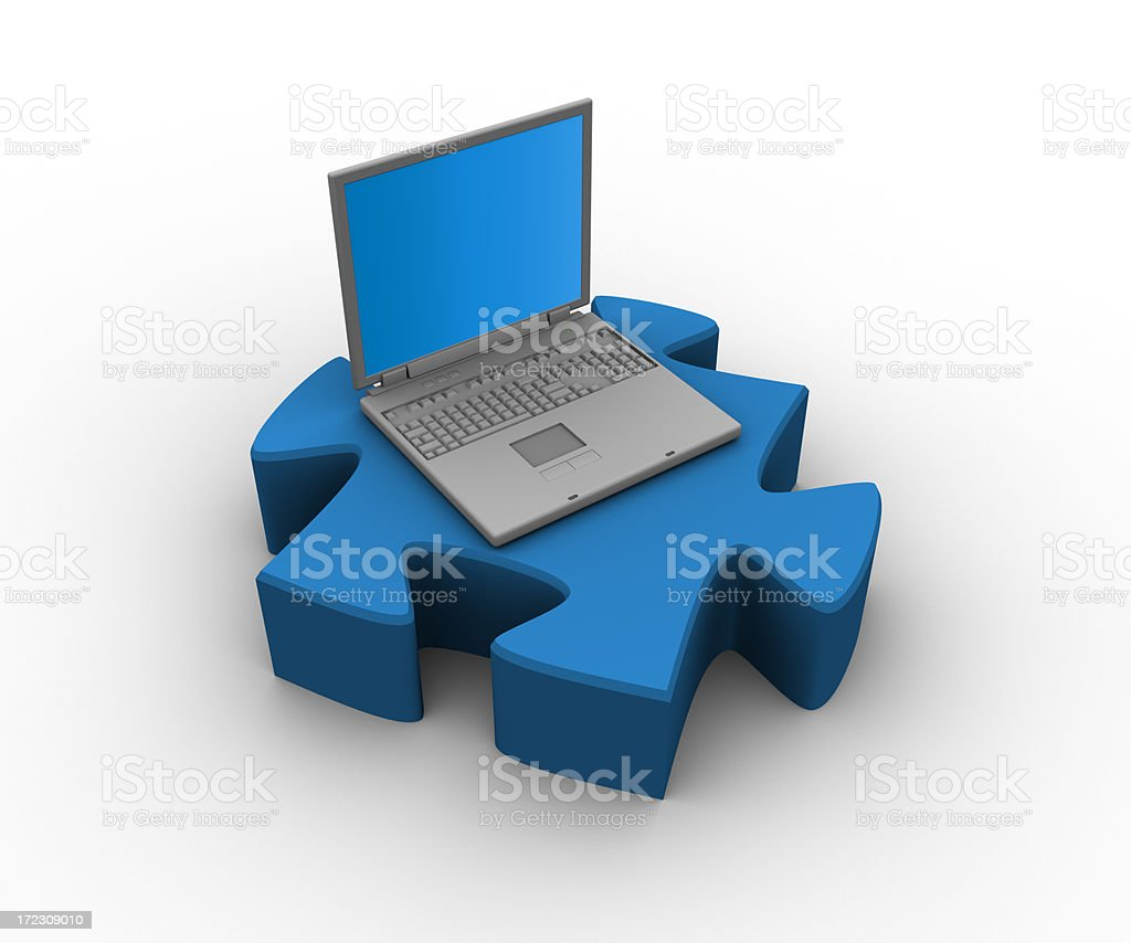 Technology solutions royalty-free stock photo