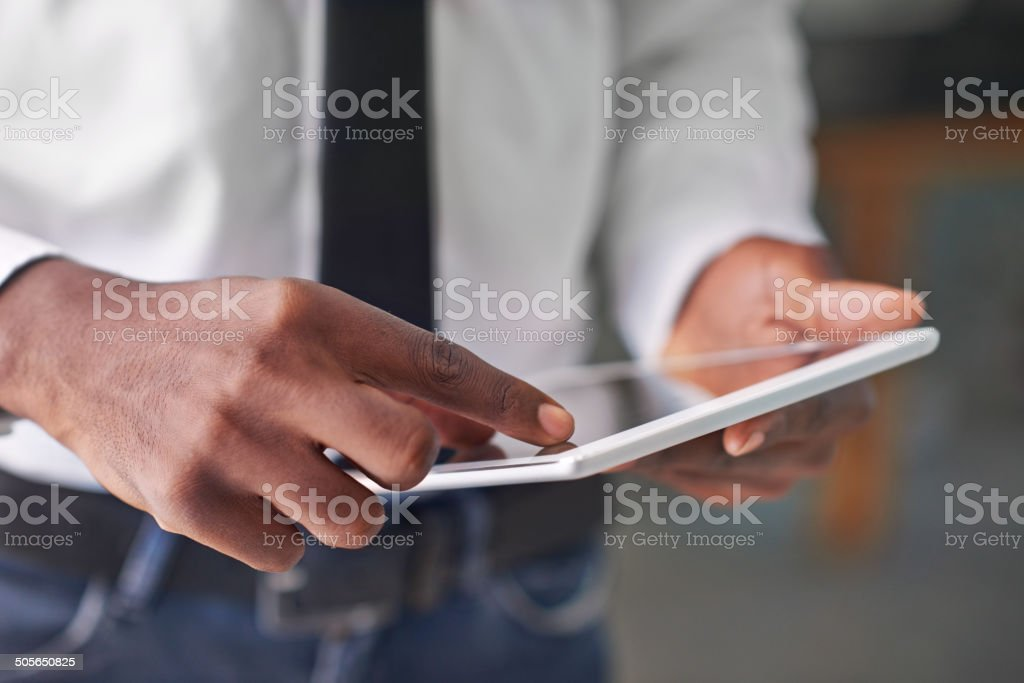 Technology takes you to the top stock photo