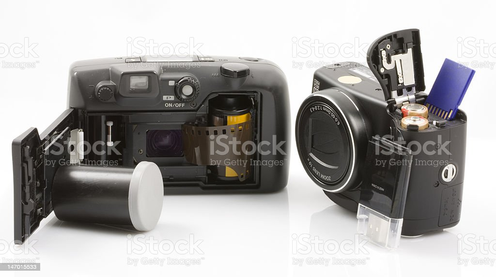 Technology: Then and Now stock photo